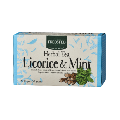 Fredsted Herbal Tea Licorice & Mint 20 sachets