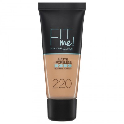 Maybelline Fit Me Matte & Poreless Foundation 220 Natural Beige 30 ml