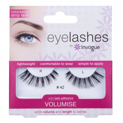 Invogue Eyelashes Volumise 42 1 pari