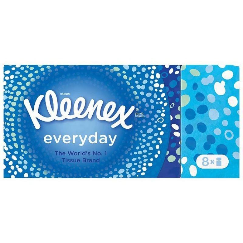 Kleenex Everyday Pocket Tissues 8 Pack 72 stk Lommetørklær