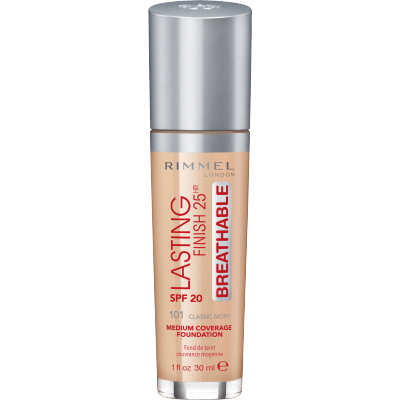 Rimmel Lasting Finish 25h Breathable 101 Classic Ivory 30 ml