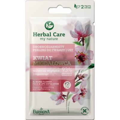 Herbal Care Almond Flower Face & Lips Exfoliator 2 x 5 ml