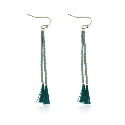 Everneed Nille Tassel Earrings Dusty Jade 7 cm