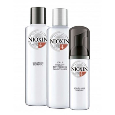 Nioxin Starter Set System 4 For Chemically Treated Noticeably Thinning Hair 150 ml + 150 ml + 40 ml