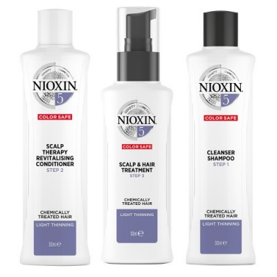 Nioxin Starter Set System 5 For Frizzy Untreated Hair 150 ml + 150 ml + 50 ml