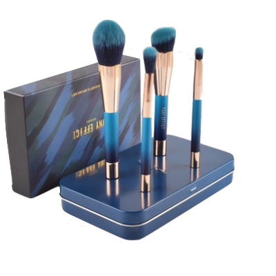 Basics Magnetic Makeup Brushes Pony Effect Blue 4 stk