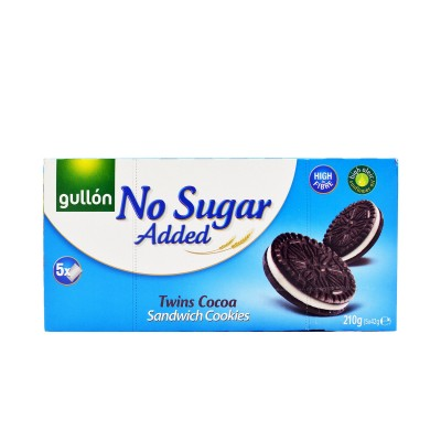 Gullón Sugar Free Twins Cocoa Sandwich Cookies 210 g