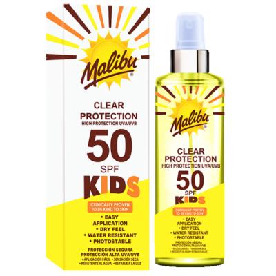 Malibu Kids Clear Sun Protection SPF50 250 ml