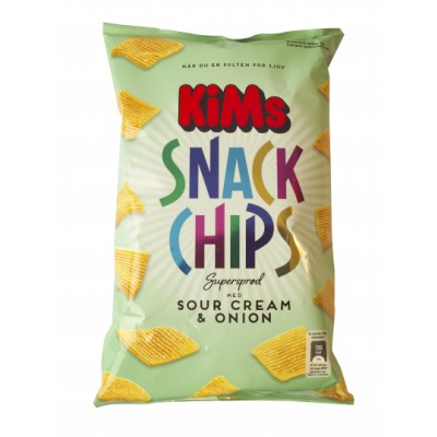 Kims Snack Chips Sour Cream & Onion 165 g