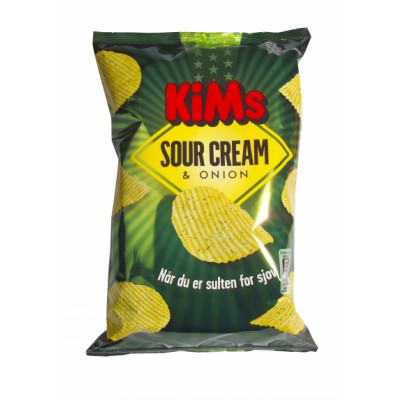 Kims Sour Cream & Onion Chips 175 g