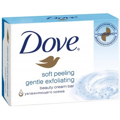 Dove Soft Peeling Gentle Exfoliating Soap Bar 100 g