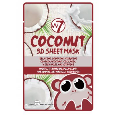 W7 3D Sheet Face Mask Coconut 1 st