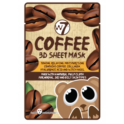 W7 3D Sheet Face Mask Coffee 1 pcs