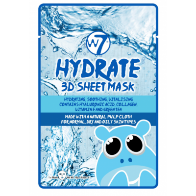 W7 3D Sheet Face Mask Hydrate 1 pcs