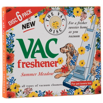 The Vac Disc Pet Lovers Vac Freshener Summer Meadow 6 st