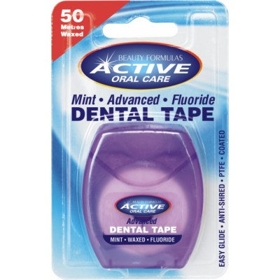 Active Oral Care Advanced Mint Fluoride Dental Tape 50 m
