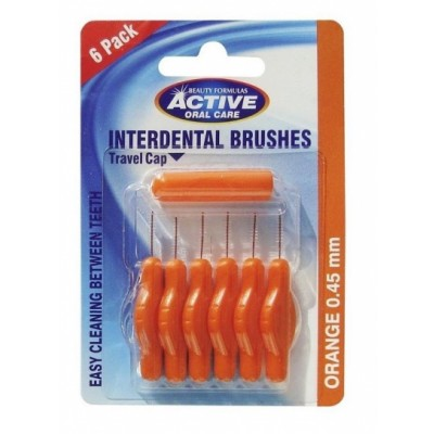 Active Oral Care Interdental Brushes Orange 0,45 mm 6 st