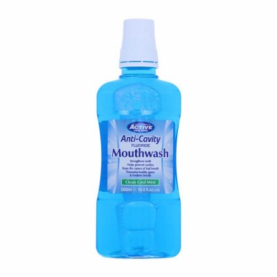 Active Oral Care Anti-Cavity Clean Cool Mint Mouthwash 500 ml