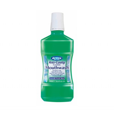 Active Oral Care Anti-Cavity Smooth Fresh Mint Mouthwash 500 ml
