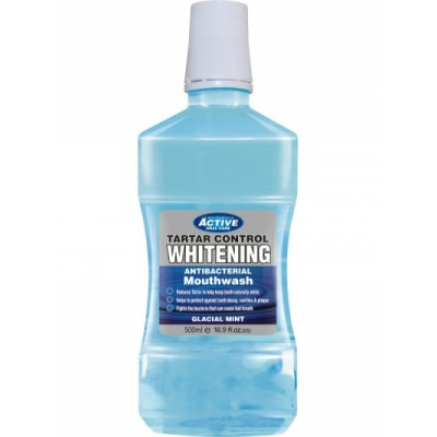 Active Oral Care Tartar Control Whitening Mouthwash 500 ml