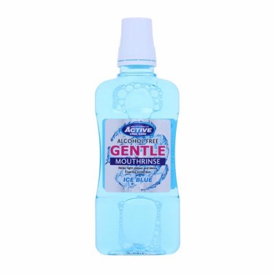 Active Oral Care Alcohol Free Ice Blue Gentle Mouthwash 500 ml