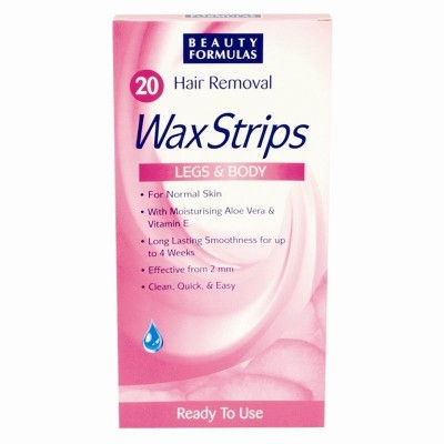 Beauty Formulas Hair Removal Wax Strips 20 st