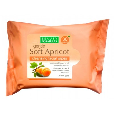 Beauty Formulas Gentle Soft Apricot Cleansing Facial Wipes 30 kpl