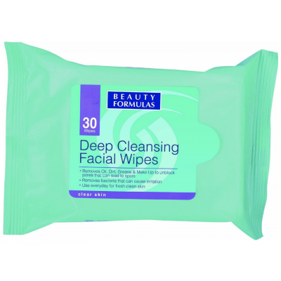 Beauty Formulas Deep Cleansing Facial Wipes 30 st