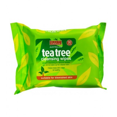 Beauty Formulas Tea Tree Cleansing Wipes 30 st