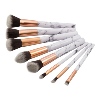 Basics Marble Makeup Brushes & Bag 8 st + 1 st