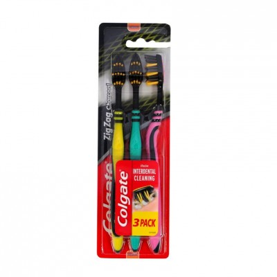 Colgate Zig Zag Charcoal Toothbrushes 3 st