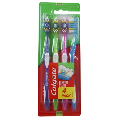 Colgate Premier Clean Toothbrushes Medium 4 stk