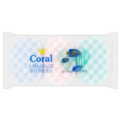 Coral Massage Sponges 3 pcs