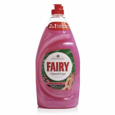 Fairy Clean & Care Rose Dishwashing Liquid 820 ml