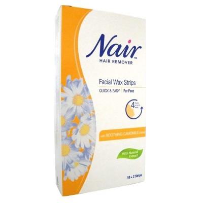 Nair Camomile Facial Wax Strips 12 kpl