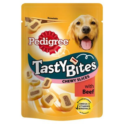 Pedigree Tasty Bites With Beef 155 g