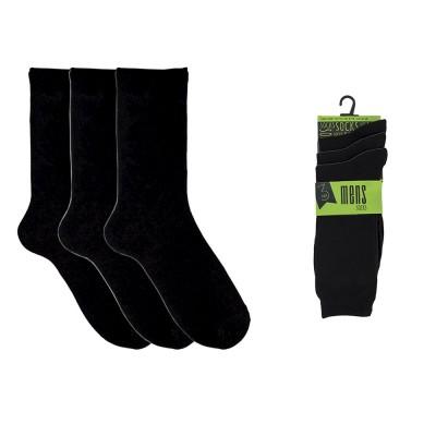 Socks 3-Pack Klassiska Herrstrumpor Svart 41-46