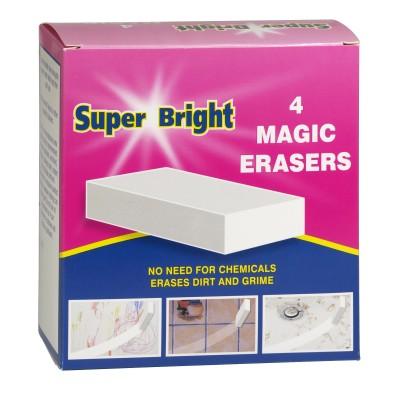 Super Bright Magic Erasers 4 st