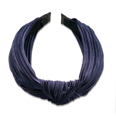 Everneed Daniella Pleated Headband Navy Blue 1 st