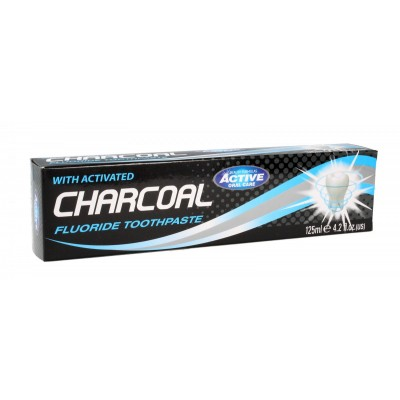 Beauty Formulas Active Charcoal Fluoride Toothpaste 125 ml