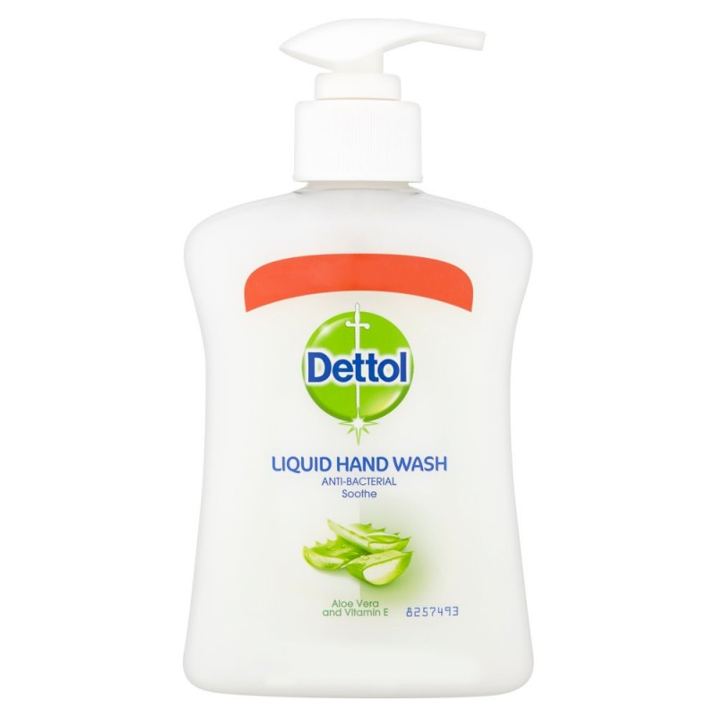 Dettol Anti-Bacterial Håndvask Aloe Vera 250 ml Håndsåpe