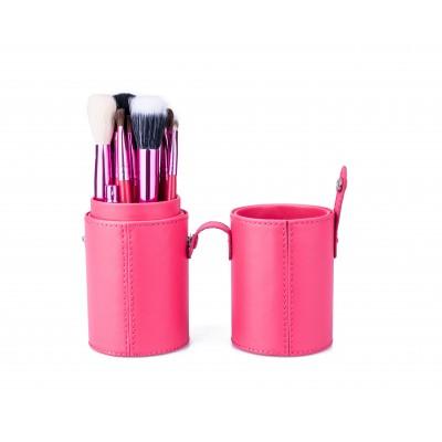 Basics Makeup Brush Set Pink 12 stk