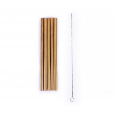 BasicsHome Bambuinen juomapilli 5 kpl