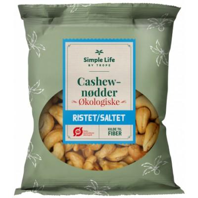 Trope Ristet & Saltet Cashew nøtter øko 90 g