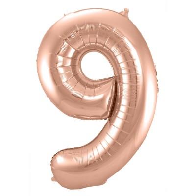 BasicsHome Folie Tal Ballon Rosaguld 9 100 cm