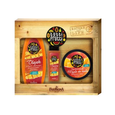 Tutti Frutti Peach & Mango Shower Gel & Body Butter & Body Scrub 425 ml + 200 ml + 100 ml