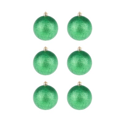 BasicsHome Christmas Ball Ornaments Metallic Green 8 cm 6 pcs