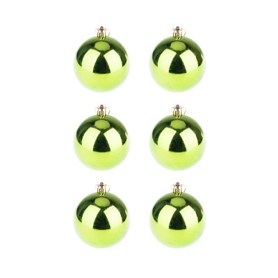 BasicsHome Christmas Ball Ornaments Shiny Green 8 cm 6 pcs