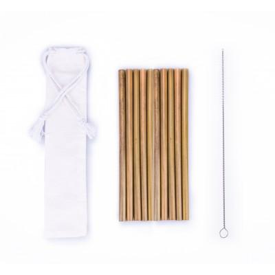 BasicsHome Bambus Sugerør 10 stk