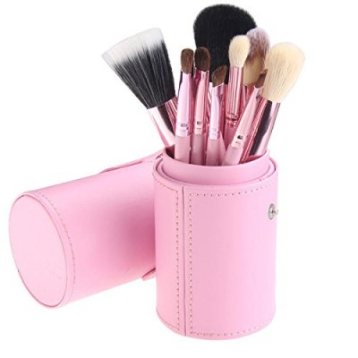 Basics Makeup Brush Set Light Pink 12 st